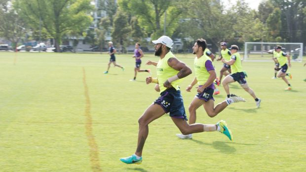 Storm speedster Josh Addo-Carr is hoping to team-up with Billy Slater on Thursday.