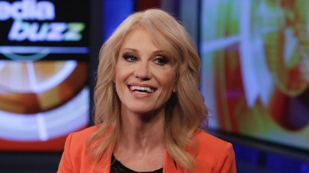 """White House counsellor Kellyanne Conway on Fox News' """"MediaBuzz"""". Trump supporters work in   a closed ecosystem of news ..."""