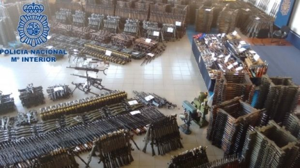 Anti-aircraft machine guns, grenades and pistols were among 10,000 weapons destined for criminal and terrorist groups.