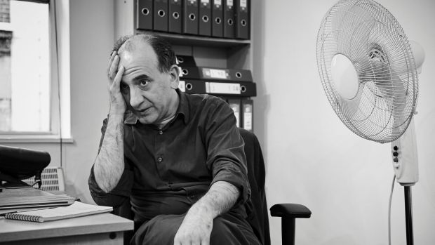 "Armando Iannucci in his office. ""He has the marginal quality of the slight outsider: the best comics need to feel ..."