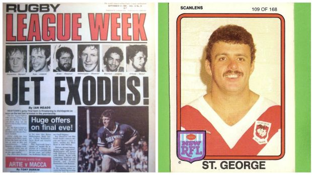 Good old days ... <I>Rugby League Week</I> and John Jansen.