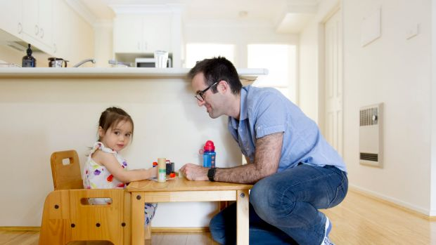 Icelab director and developer Tim Riley at home with daughter Clover, two. He works a four-day week and also works from ...