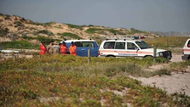 The jury visited sand dunes in Salt Creek, where the man carried out the attack.