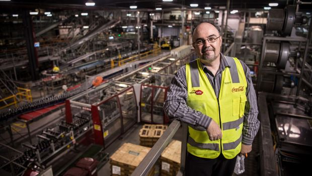 Scott Andrews, Coca Cola's National Environment Manager, at their plant in Northmead.