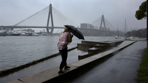Rain and damaging winds are forecast for Sydney for Thursday.