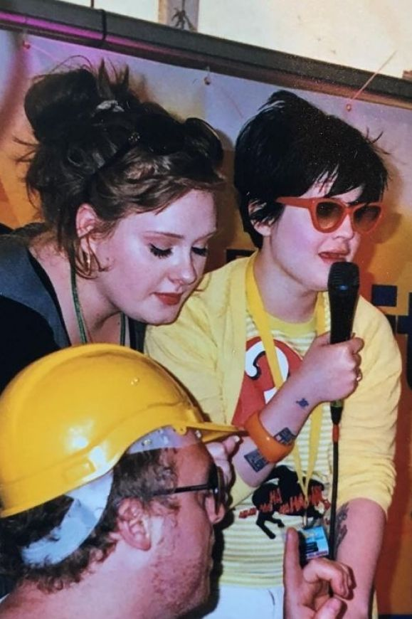 Kelly Osbourne shared this throwback shot of her and a then little-known singer called Adele hosting a BBC festival in 2007.