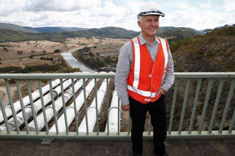 Prime Minister Malcolm Turnbull poses for a photo during his announcement of Snowy Hydro 2.0 in March.