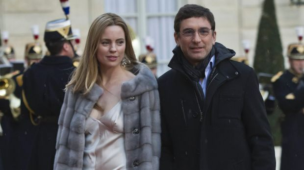 Australian actress Melissa George and former husband Jean-David Blanc.