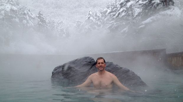 Charles Davidson was inspired to start Peninsula Hot Springs after a visit to Japan.