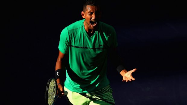 """Kyrgios says """"something switched and now I'm really enjoying it again""""."""