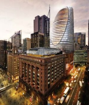 An artist's impression of Macquarie's proposed northern tower at Martin Place.