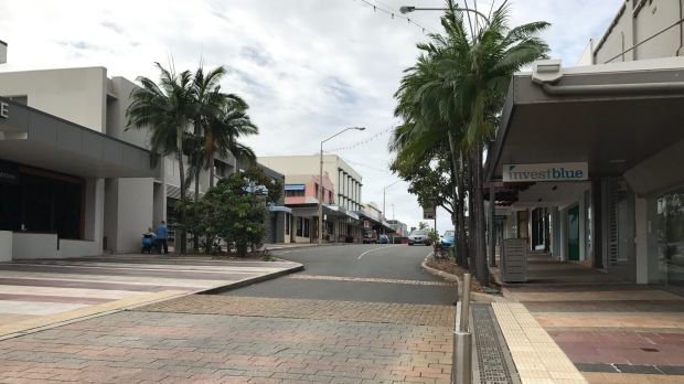Gladstone's main thoroughfare, Goondoon Street, sits empty as the city struggles to adjust to the aftermath of the LNG boom.
