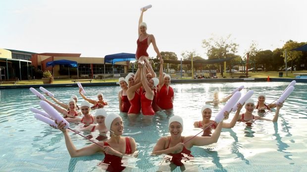 The Clams' water ballet is choreographed by Holly Durant​ and Gabi Barton.