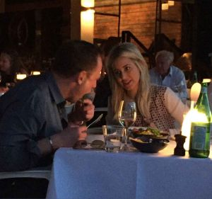 Nabil Gazal and Roxy Jacenko dining at Sydney's Otto restaurant in a file picture.