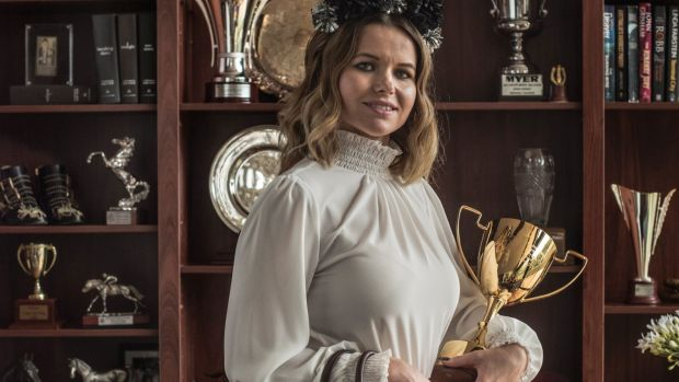 Slipper dream: Kellie Portelli is ready to watch her husband's dream come true in the Golden Slipper.