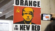 Protest sign of Donald Trump