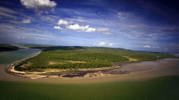The men were found near the mouth of Keppel Creek on Curtis Island.