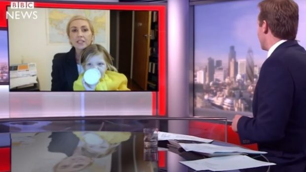 The Kiwi spoof pokes gentle fun at the viral BBC interview ... and has subsequently gone viral.