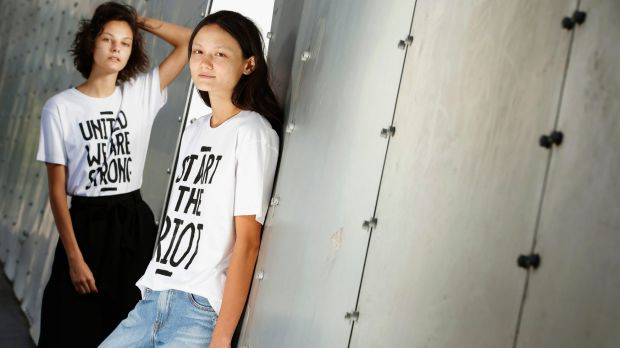 """The messages on the shirts express the """"mass frustration"""" people feel over issues ranging from climate change to the ..."""