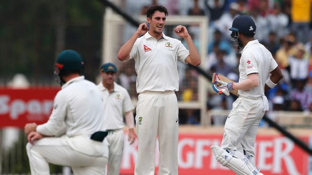 Dream return: Pat Cummins has been the pick of the Australian bowlers in the third Test.