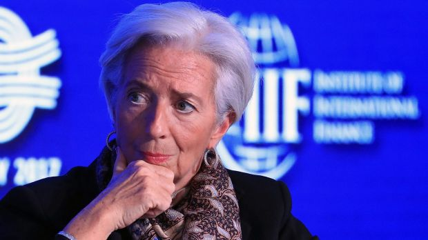 Christine Lagarde, managing director of the International Monetary Fund (IMF), at the Institute of International Finance ...
