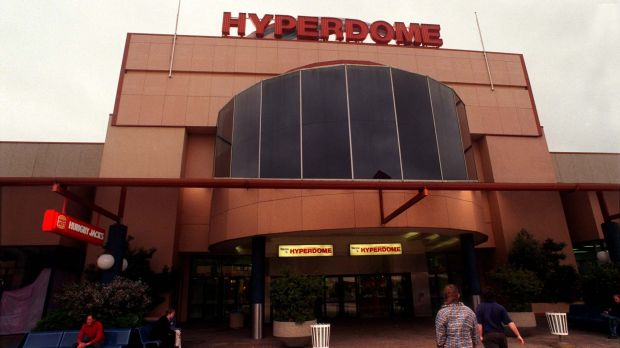 A group of people allegedly assaulted a security guard at the Tuggeranong Hyperdome on Saturday evening.