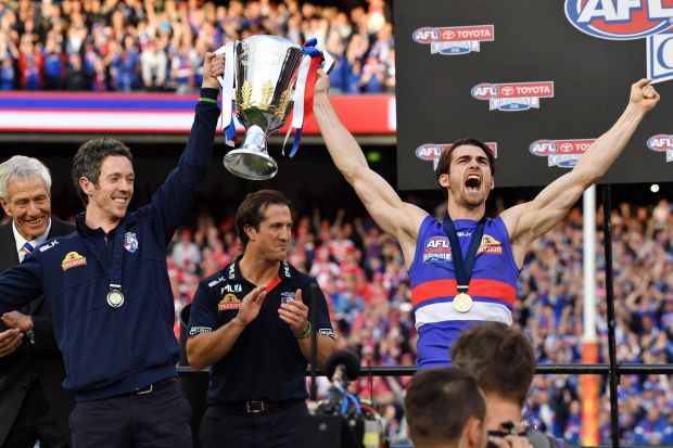 Sidelined by injury, but still at the centre of the Bulldogs' premiership campaign.