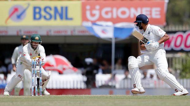 No DRS needed: Australia's wicketkeeper Matthew Wade stumps India's Murali Vijay.