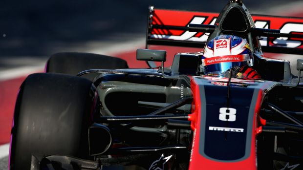 Strong finish: Romain Grosjean of France hopes to improve constantly as the season progresses.