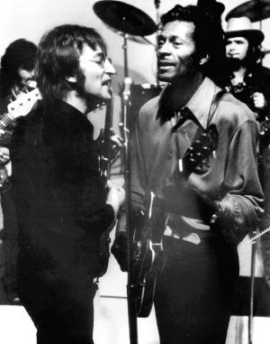 John Lennon singing with Chuck Berry