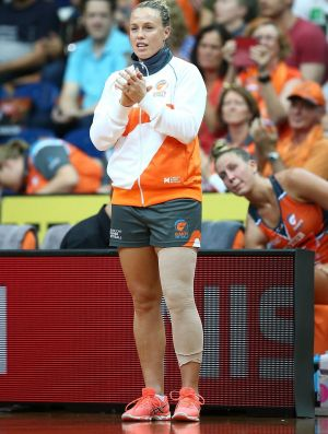 Sideline eye: Club captain Kim Green has not missed a game since injury ended her season.