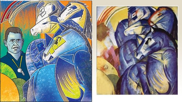 Illustration (left): Jim Pavlidis. Original artwork: Franz Marc.