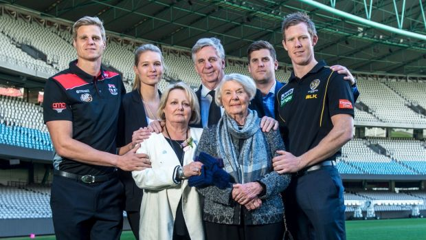 Solid foundation: The Riewoldt family at the launch of Maddie Riewoldt's Vision.