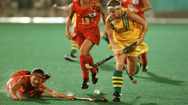 Pay cut: Danni Roche, seen in her playing days, is promising to work for free if elected president of the AOC.