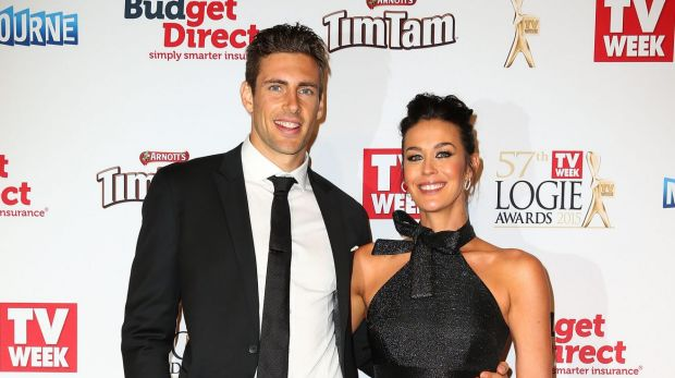 Megan Gale engaged to AFL player Shaun Hampson