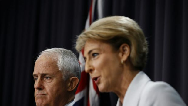 Prime Minister Malcolm Turnbull and Employment Minister Michaelia Cash.