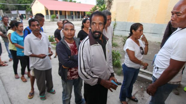 Voting is not compulsory in East Timor but many people are looking forward to having a say.