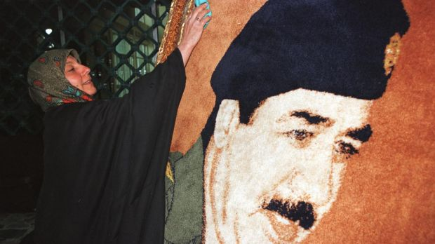 Larger-than-life posters of Saddam Hussein were everywhere.