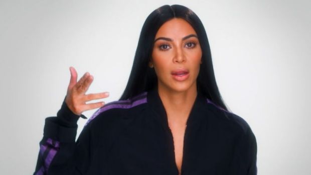 Kim Kardashian West reliving her ordeal in Paris for her reality TV show, <i>Keeping Up with the Kardashians</i>.