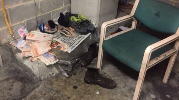 Footage obtained by the Transport Workers Union shows squalid conditions for workers at Sydney International Airport.