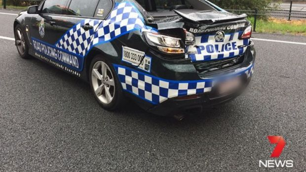 A police officer has been taken to Gold Coast University Hospital in a serious condition after being hit by a car on the ...