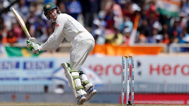 Australia's Peter Handscomb was 72 not out before the match was declared a draw on day five.