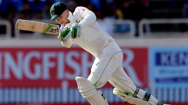 Defining innings: Handscomb still played his shots despite the tightness of the final day.