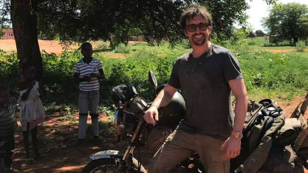 Richard Hammond in Mozambique, where he fell off his motorbike.