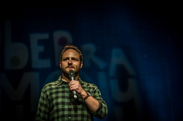 Canberra comedy festivals gala opening night. Danny Bensley.