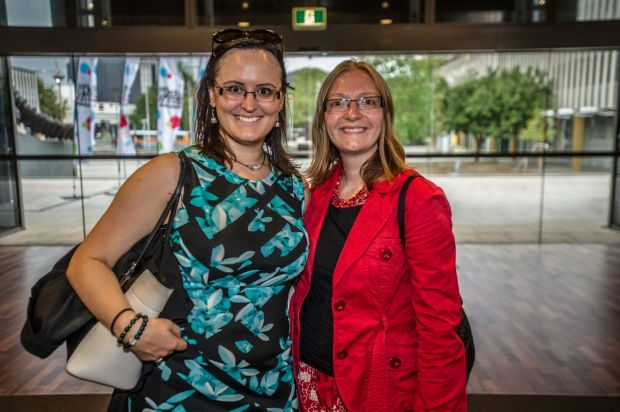 Attendees Jenna Collareda, of Franklin and Ayla Pentikainen, of Queanbeyan.