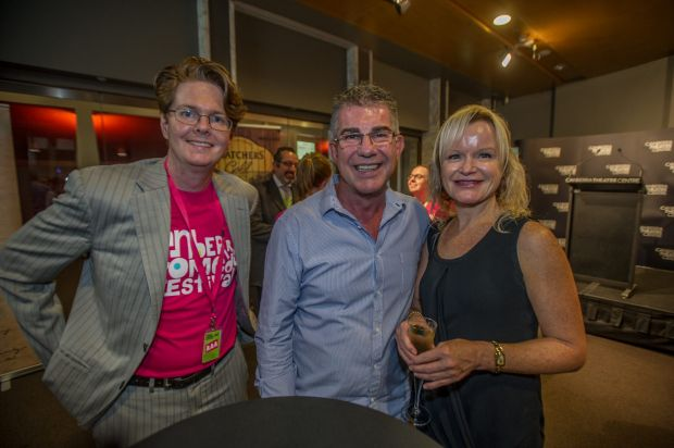 Attendees Patrick Hornby, of Forde, Tony McLeish, of Amaroo and Vicki Bensley, of Queanbeyan.