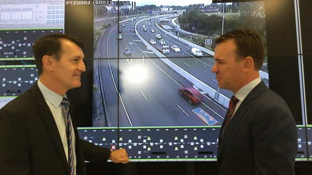 Lord Mayor Graham Quirk and Transurban's Wes Ballantine announce their agreement for the toll road operator to upgrade ...