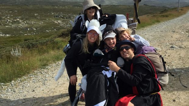 Scullin 12-year-old Lily Sharrock climbed Mount Kosciuszko fundraising for the Cerebral Palsy Alliance.