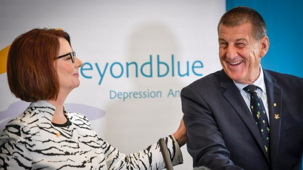 Julia Gillard replaced Jeff Kennett as beyondblue chair, which demonstrates Kennett's ability to rise above party politics.